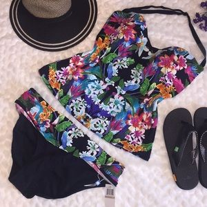 BLEU Rod BEATTIE Floral Tankini Panty Swimsuit Set